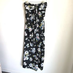 Band Of Gypsies Maxi Dress Black With Floral Print